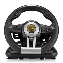 PXN V3II Racing Game Steering Wheel USB Vibration Dual Motor Foldable Pedal Game Controller for PC PS3 PS4 Xbox One PXN-V3II(China)