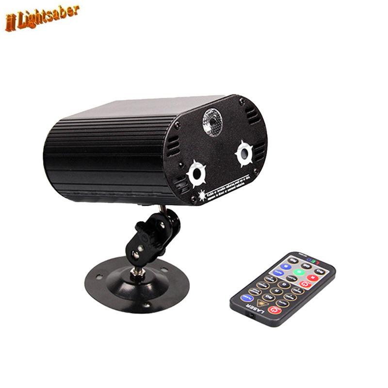 36 Patterns 3 Lens Laser Stage Light + LED Blue Stage Lighting Effect DJ Light Red Gree Blue Home Club Projector + Remote stage lighting 3 lens 24 pattern club rg laser blue led home party professional projector illumination dj light disco club laser