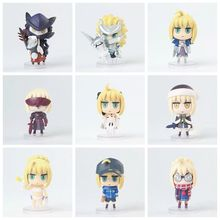 Fate/stay night Grand Order Action Figures Saber Lancer Arche Alter Lily Santa With Box Cute Kawaii Ver 8cm PVC Model Dolls Toys fate stay night action figures saber nendoroid knight pvc 100mm fate grand order anime model toys fate stay night knight saber