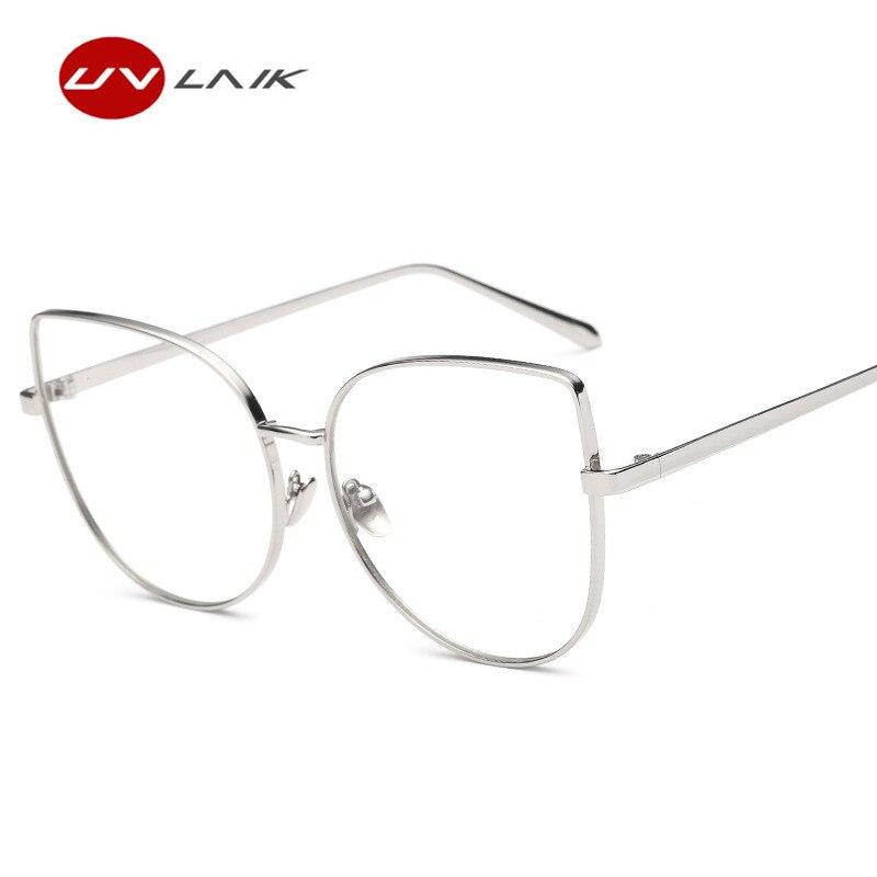 UVLAIK Cat Eye Brille Rahmen Transparent Spektakel Rahmen HD Klar ...