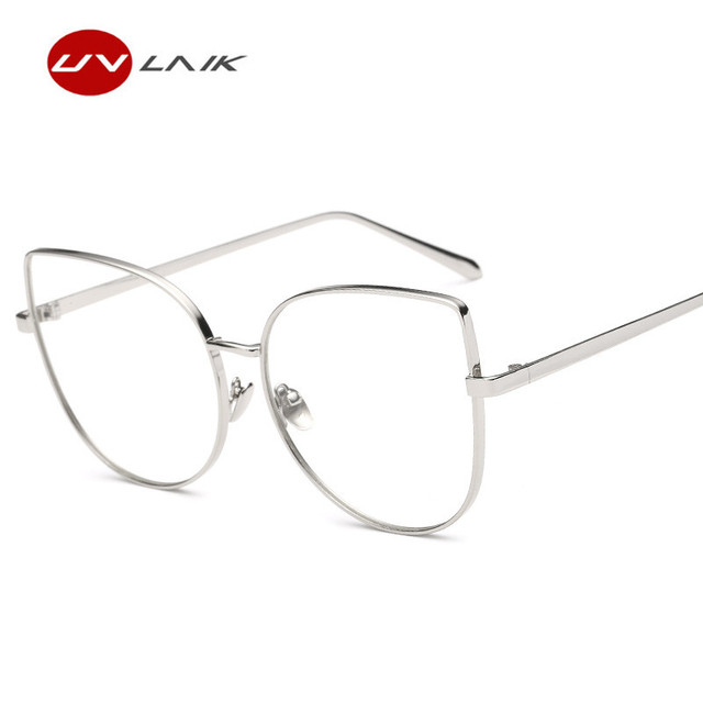 UVLAIK Cat Eye Glasses Frame Transparent Spectacle Frame HD Clear ...