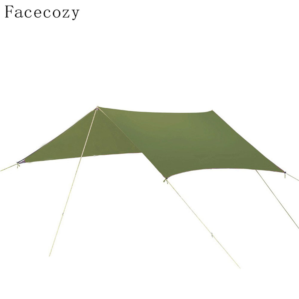 Facecozy Outdoor Anti-UV Sun Shelter Tent Waterproof 210T Damp-proof Oxford Cloth Beach Awning Portable Picnic Camping Mat 3*3M free shipping double layer awning beach tent sun shelter gazebot uv protect sunshade camping tent without floor mat