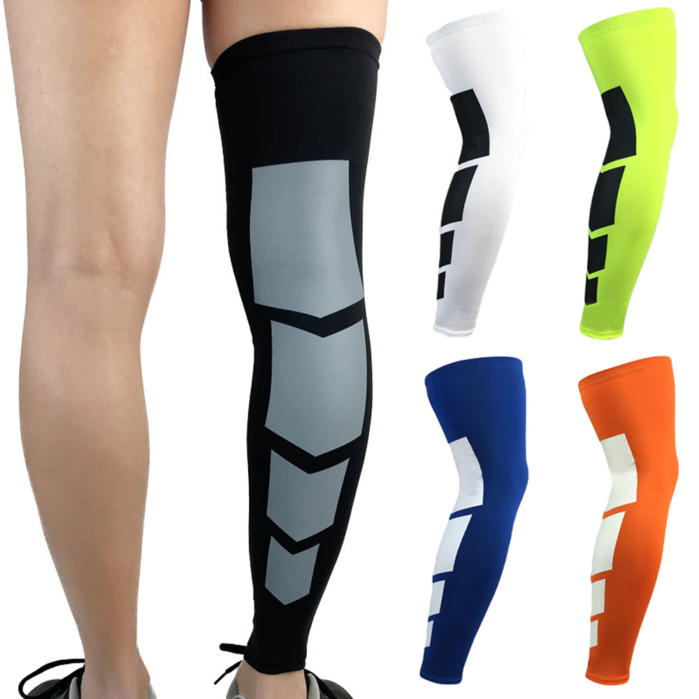 Elastic Breathable Sport Leg Sleeve Protector Basketball Running Knee Pad Socks LFSPR0012
