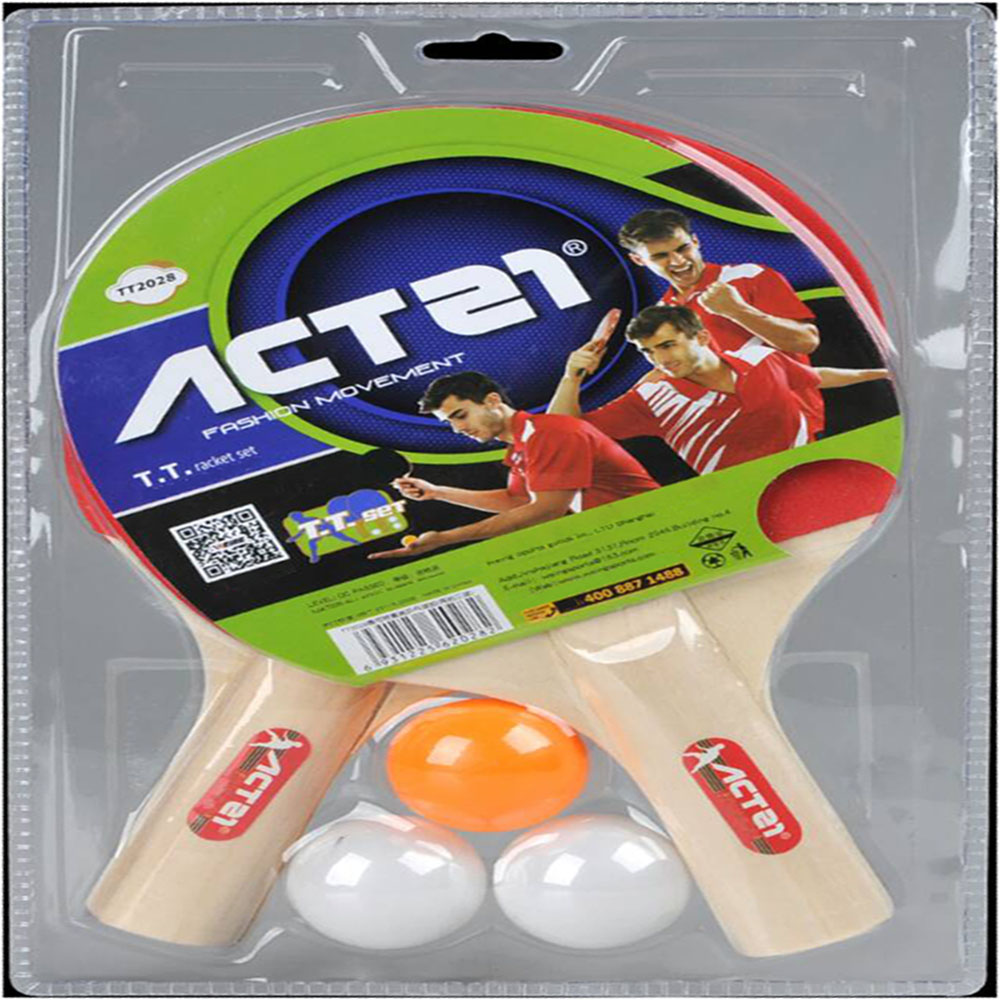 ACTEI TT2028 table tennis racket double - sided entertainment racket table tennis product clap two three ball set