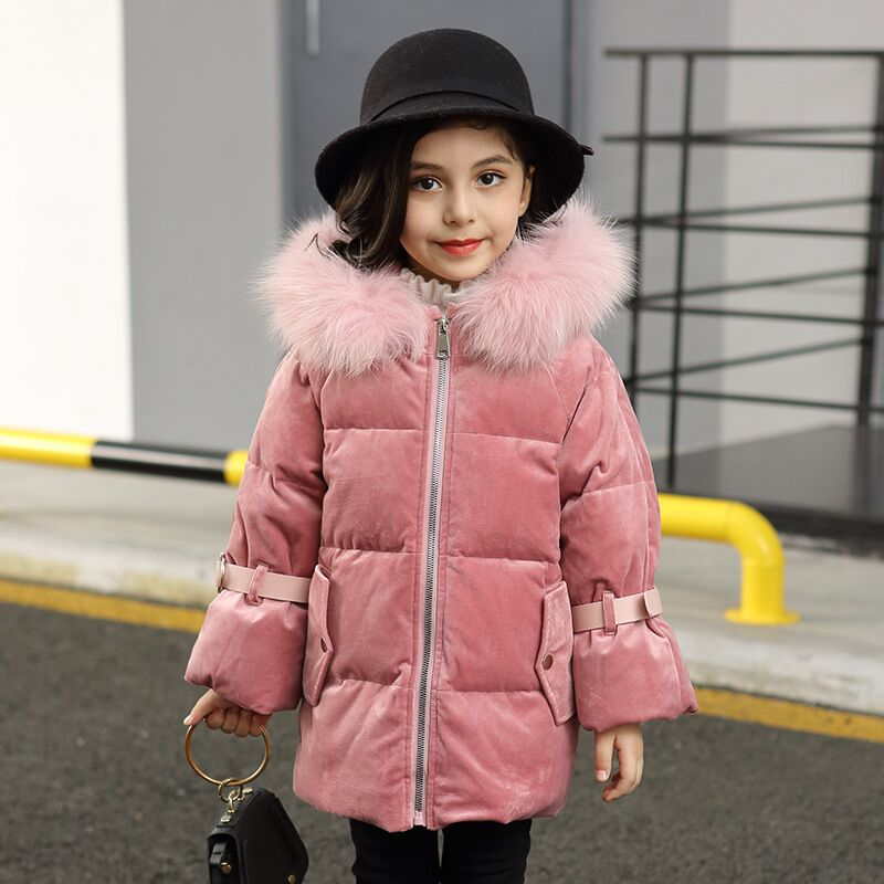 girls baby Warm Clothes 2-8year Infant Coat 2018  Kids Thicken down collar Jacket Hooded princess style Snowsuit Snow Outerweargirls baby Warm Clothes 2-8year Infant Coat 2018  Kids Thicken down collar Jacket Hooded princess style Snowsuit Snow Outerwear