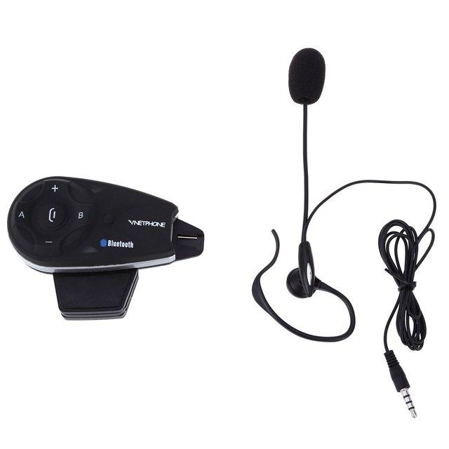 Bluetooth Intercom Interphone Casco de La Motocicleta 5 Pilotos Síncrono Hasta 1200 Metros Distancia de Conversación UE Plug V5C 1200 M Completo duplex