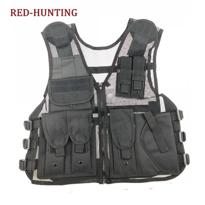 Army Mesh Vests Tactical CS Combat Vest Mens Hunting Outdoor Black Training Military Vest