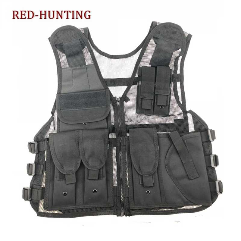 Nieuwe Army Mesh Vesten Tactical Cs Combat Vest Mens Hunting Outdoor Zwart Training Militaire Vest