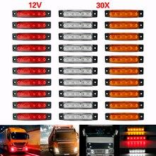 10X12 В/24 В 6 светодиодный ных автомобилей Грузовик Автобус прицепы боковые габаритные индикаторы Стоп сигнал Лампа Стоп красный желтый белый