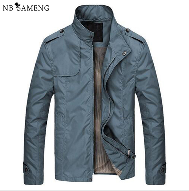 Jacket Men Coat Autumn Brand Clothing 2016 China New Mens Fashion Jackets Stand Collar Casual Coats Size M-XXXL Business NSWT211