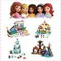 4 estilos de Bela 10435 10436 10497 10498 Elsa Hielo Espumoso Anna Olaf Princesa castillo Modelo Bloques de Construcción de Juguetes para los niños regalos