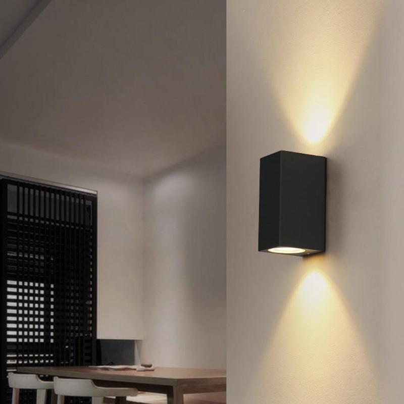 10pcs / lot udendørs væg lys op og ned 6W vandtæt IP65 aluminium armatur til udendørs belysning væg lamper AC 85-265V