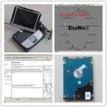 ELSAwin 5,3 Für Audi Und ELSAwin 5,2 Für VW/SEAT Installiert Haben Gut Mit 500 GB HDD In Laptop Toughbook CF-19
