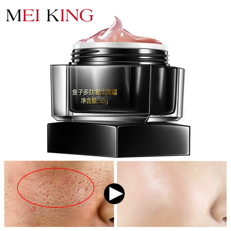 MEIKING Potent Anti Wrinkle Face Cream Anti Wrinkle Day Moisturizer Cream Skin Care Whitening Fish Roe Peptides Black Face Cream