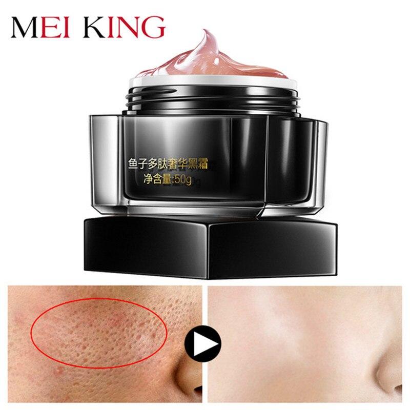 MEIKING potente Anti arrugas crema hidratante de Día Crema de cuidado de la piel blanqueamiento huevas de pescado péptidos negro Crema de Cara