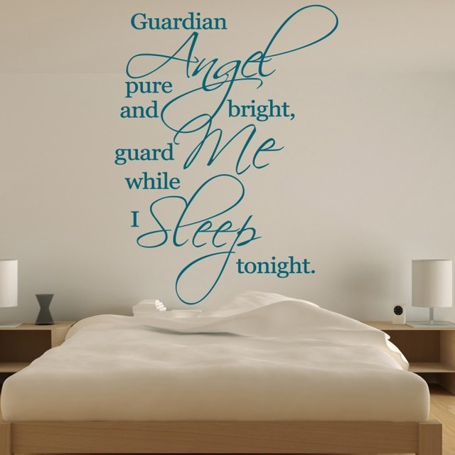 Guardian Angel Pure And Bright Religious Quotes Vinyl Wall Stickers