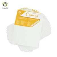 CONDA 20x25.4cm Canvas Panels Pack of 12 Artist Quality Acid Free Canvas Board Oil Painting Board Professional Art Supplies