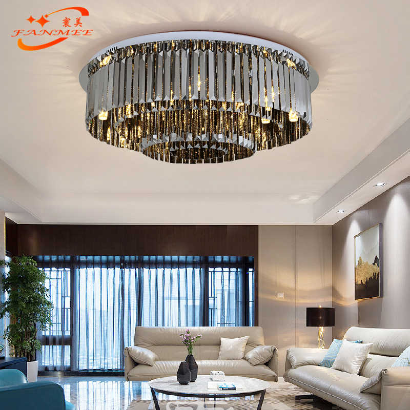 Modern Ceiling Chandelier Lighting LED Cristal Chandelier Lamp Luxury Lustre de Cristal  Flush Mounted Crystal Chandelier