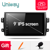 uniway ATY9071 Android 7.1.1 car dvd for Suzuki SX4 2006 2007 2008 2009 2010 2011 2012 2013 car radio navigation