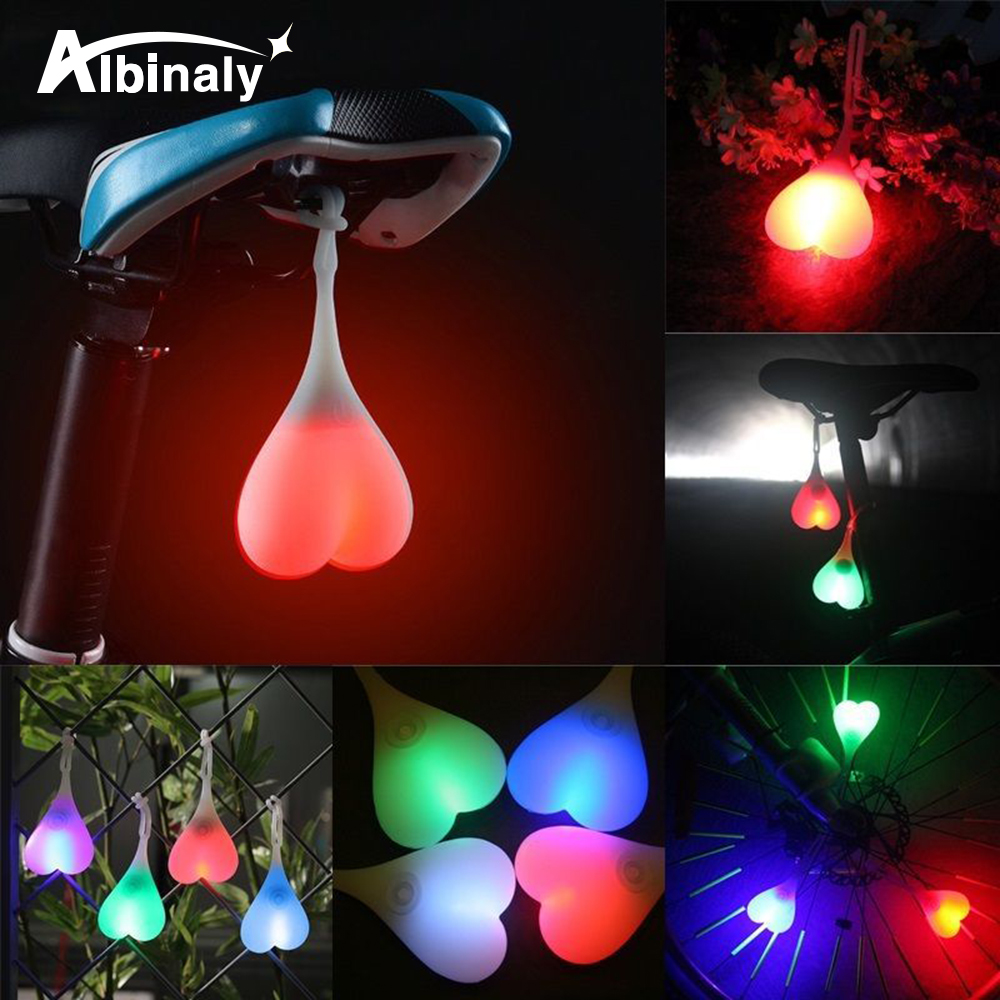 Waterproof Bicycle Ball Tail Silicone Lamp Creative Bicycle Night Essential LED Red Warning Light Bicycle Seat Back Egg Light