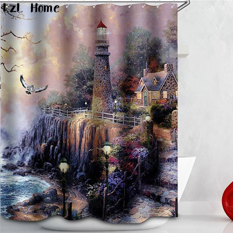 Buy lighthouse shower curtain and get free shipping on AliExpress.com