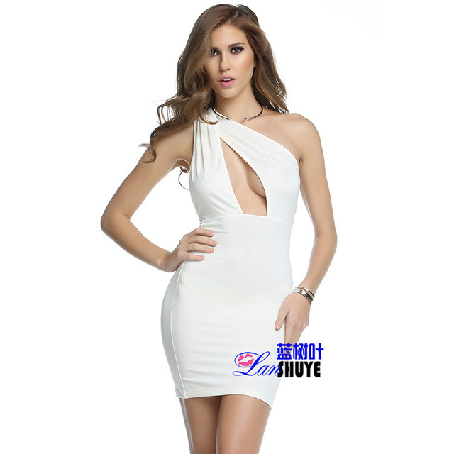 Short One Shoulder Club Dresses