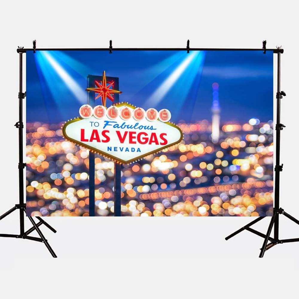 Mehofoto Las Vegas Bokeh Lighting Backdrops for Photography Kids Birthday Party Photo Shoot Background G-167