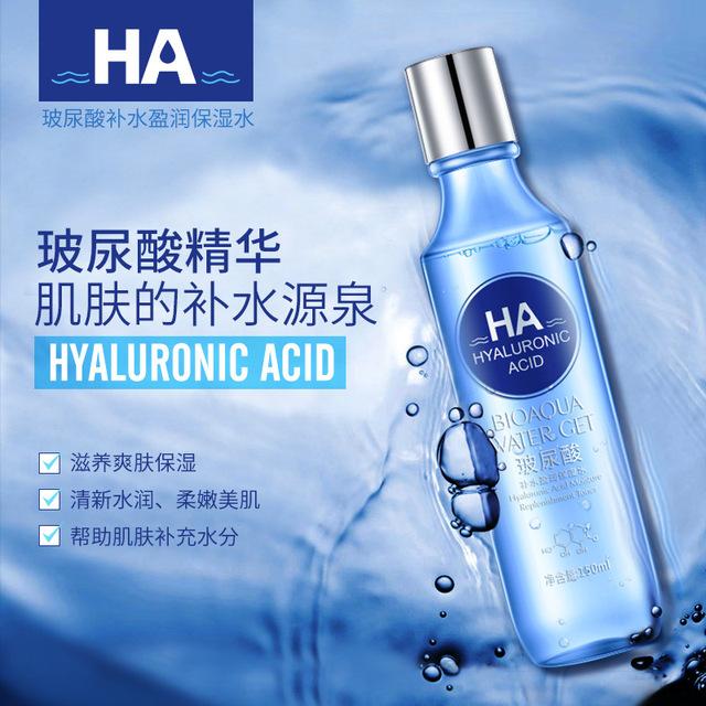 BIOAQUA humedad reposición ácido hialurónico cara tóner toners refrescante para blanquear la piel tratamiento de cuidado de la piel belleza cuidado de la cara