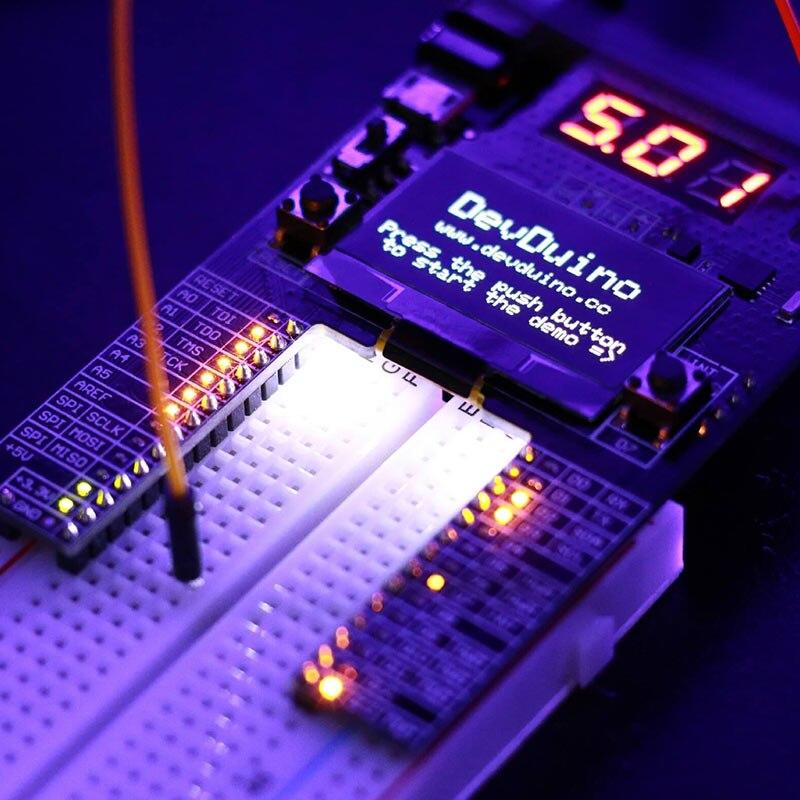 Elecrow DevDuino Development Platform for Arduino Compatible Board Reshaped Enhanced Full Designed DIY Kit 128x64 OLED Display