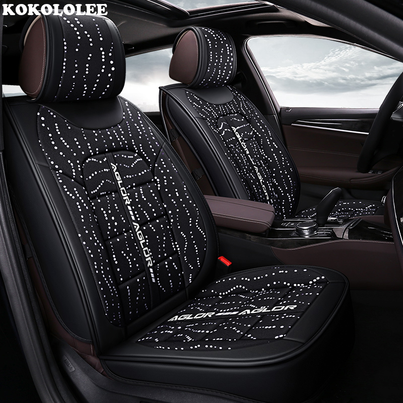 KOKOLOLEE housse de siège de voiture Pour volvo v50 v40 c30 xc90 xc60 s80 s60 s40 v70 auto accessoires de voiture-styling Automobiles siège couvre