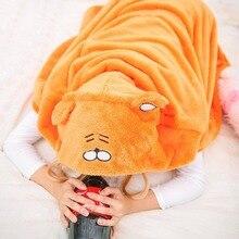 "Japanese Anime Himouto! Umaru-chan Doma Umaru Cosplay Costume ""UMR"" Indoor Mode Wear Orange Hamster Hoodie Fleece Hamster Cape"