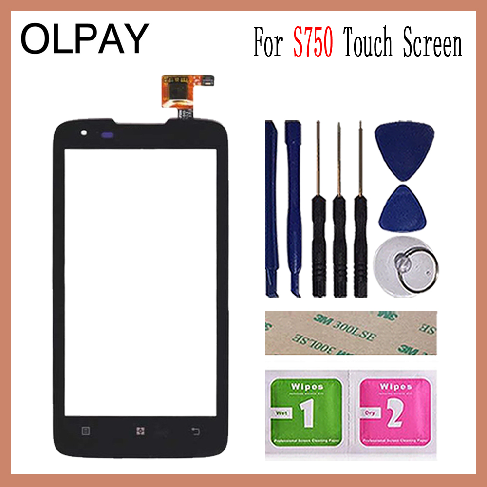 OLPAY 4.5'' For <font><b>Lenovo</b></font> <font><b>S750</b></font> S 750 Touch Screen Touch Digitizer Panel Glass Tools Free Adhesive And Wipes image