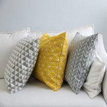 Cushion Cover square knitted line Knitted printed pillow cover Sofa car decorative pillows