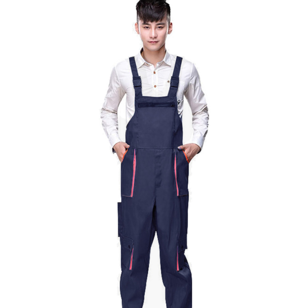 Men Work Overalls Women Protective Coverall Cargo Pants Repairman Strap Jumpsuits Suspenders Trousers Working Uniforms