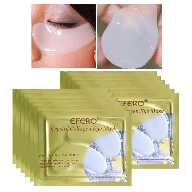 5/8/10Pair Collagen Eye Mask Moisturizing Hydrogel Eye Patch Crystal Eye Masks Dark Circles Remover Patches Under The Eye Care