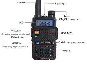 """Image 3 - מקצועי מכשיר קשר 10 ק""""מ UHF VHF 5W UV 5R uv עם פנס VOX FM CB משדר 2 דרך רדיו communicator baofeng uv5r"""