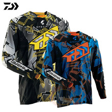 2018 DAWA Large Size Fishing Shirt Quick Dry Cycling Hiking Jersey Soft Fishing Clothing Anti-UV Long Sleeve Fishing Jersey
