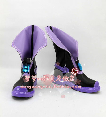 Hyperdimension Neptunia Neptune/Ultra Dimension Purple Cosplay Shoes Boots