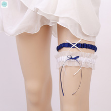 Czy Party Two-color Mesh Classic Sexy Western-style Bride Garter Belt with Green and Leg Ring Wedding Accessories