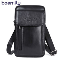 Luxury Brand Genuine Leather Mini Bag Crossbody Bags For Men Small Bags For Phones Travel Wallets Men Shoulder Bag Small Handbag