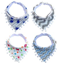Bibs & Burp Cloths Newborn Infants Bebe Baby Cotton Printed Triangle Striped Feeding Towel Accessories