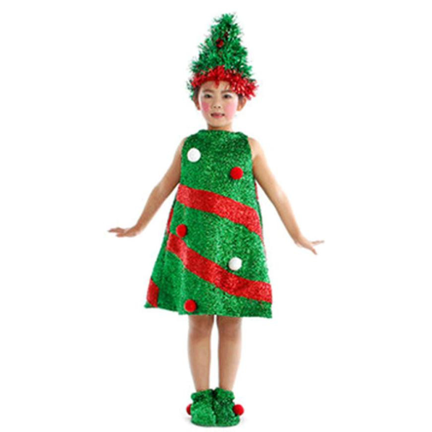 Toddler Kids Christmas Clothes Baby Girls Christmas Tree Costume ...
