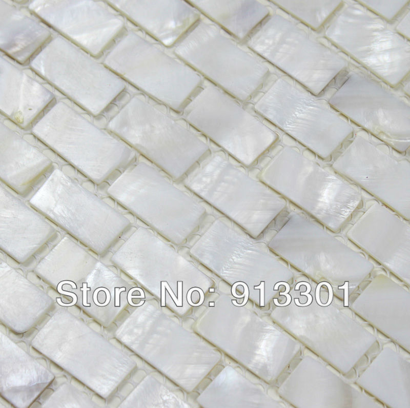 Aliexpress Com Buy Shell Tile Backsplash Seashell Mosaic Discount Kitchen Backsplash Tile Sheets Mother Of Pearl Tiles Bk03 Free Shipping Wholesale From