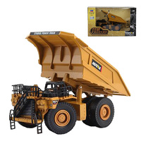 HUI NA TOYS 1:40 Alloy Mining Dump Truck Toy Dumper Engineering Car Models Collection Educational Toys For Kids Gift