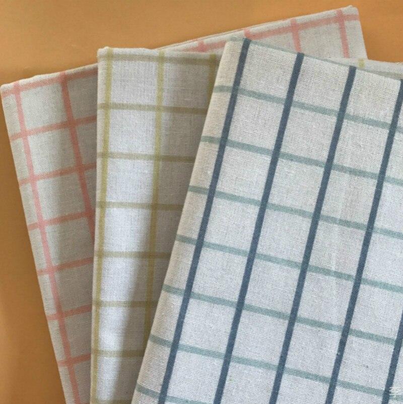 Buulqo Meter linen fabric printed Linen cotton DIY sofa curtain tablecloth home decor