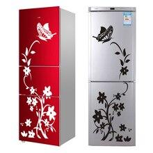 Высококачественный креативный холодильник черная наклейка бабочка наклейки на стену с узорами домашняя отделка кухни настенное искусство, настенное украшение Бабочка Холодильник Стикер Стены Стикеры Главная Обои