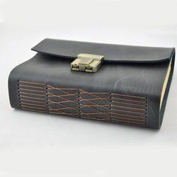 Echtes leder Journal starke geheime tagebuch mit schloss und passwort code 18 CM * 13 CM * 4,5 CM