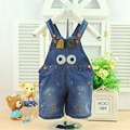 2016 New Summer Bebe Clothing Jumpsuit Cartoon Overall Baby Romper Baby Jeans Romper Pants B044