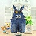 2016 nova verão Bebe roupas Jumpsuit dos desenhos animados geral Romper do bebê do bebê Romper Jeans calças B044