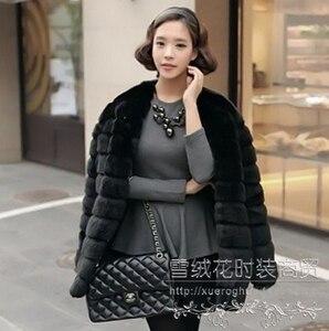 Alta qualidade longo do falso coelho casaco de pele das mulheres plus size fino fofo jaqueta outono inverno outerwear casacos de pele gilet fourrure mex